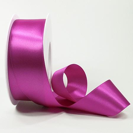 Satinband SINFINITY, pink: 38mm breit / 25m-Rolle, mit feiner Webkante.