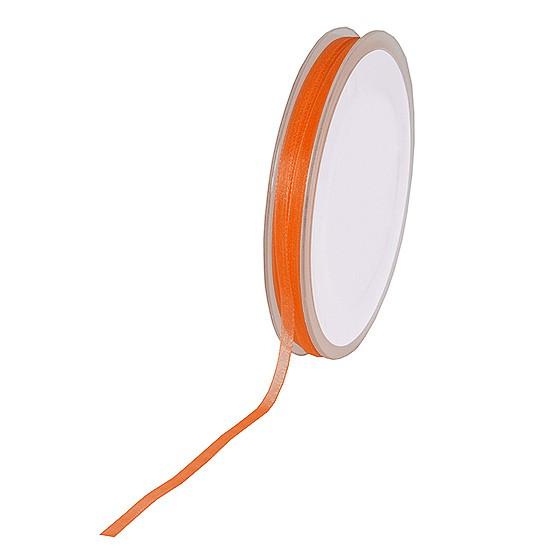 Organzaband: 3mm breit / 50m-Rolle, orange: 100903236