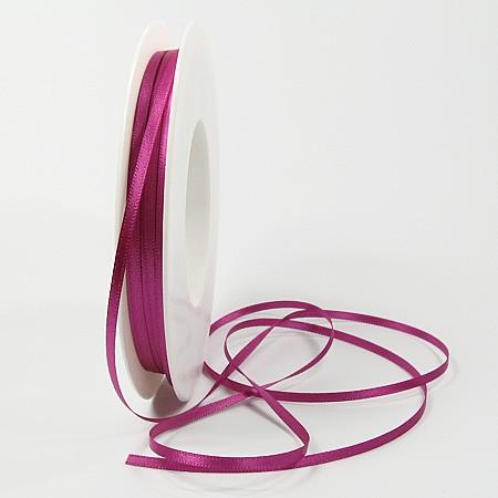 Satinband SINFINITY, pink: 3mm breit / 50m-Rolle, mit feiner Webkante.