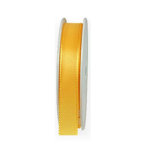 Taftband: 15mm breit / 50m-Rolle, sonnengelb.
