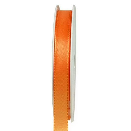 Taftband, orange: 10mm breit / 50-Rolle, mit feiner Webkante