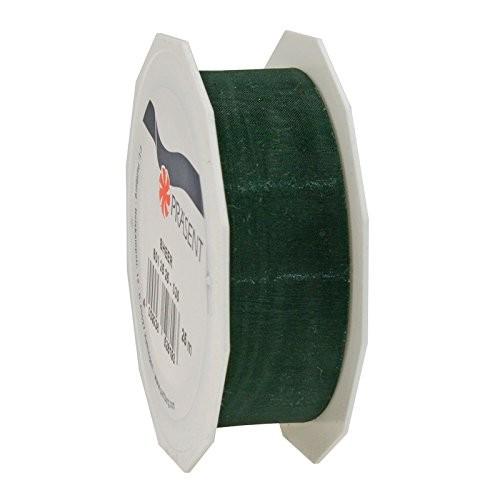 Organzaband-Sheer: 25mm breit / 25m-Rolle, tannengrün.