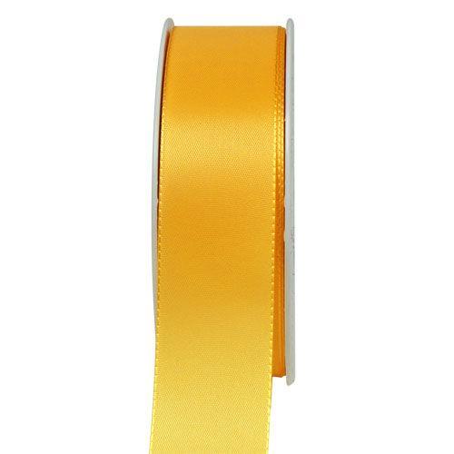Taftband, sonnengelb: 40mm breit / 50m-Rolle, mit feiner Webkante.