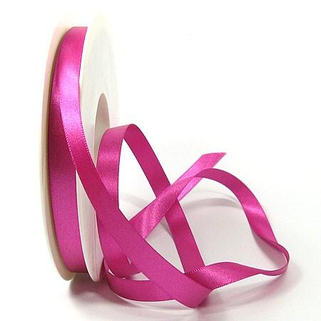 Satinband SINFINITY, pink: 10mm breit / 25m-Rolle, mit feiner Webkante.