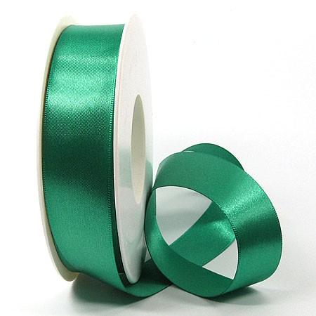 Satinband SINFINITY, petrol: 25mm breit / 25m-Rolle, mit feiner Webkante.