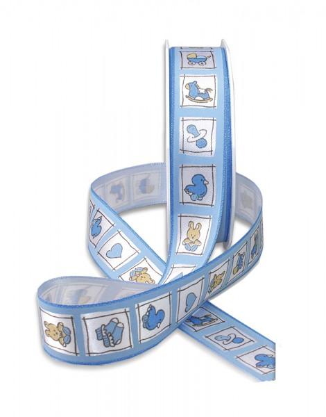 Babyband-NATALE: 25mm breit / 20m-Rolle, hellblau
