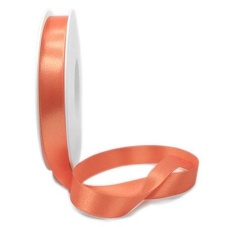 Satinband-SINFINITY, apricot: 15mm breit / 25m-Rolle, mit feiner Webkante