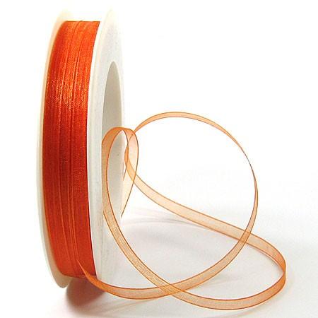 Organzaband: 5mm breit / 50m-Rolle, orange:12506120