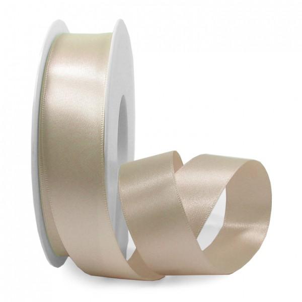 Satinband-SINFINITY, kaschmir-beige: 25mm breit / 25m-Rolle.