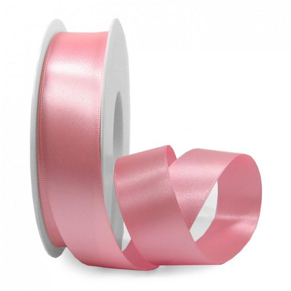 Satinband SINFINITY, rosa: 25mm breit / 25m-Rolle, mit feiner Webkante.