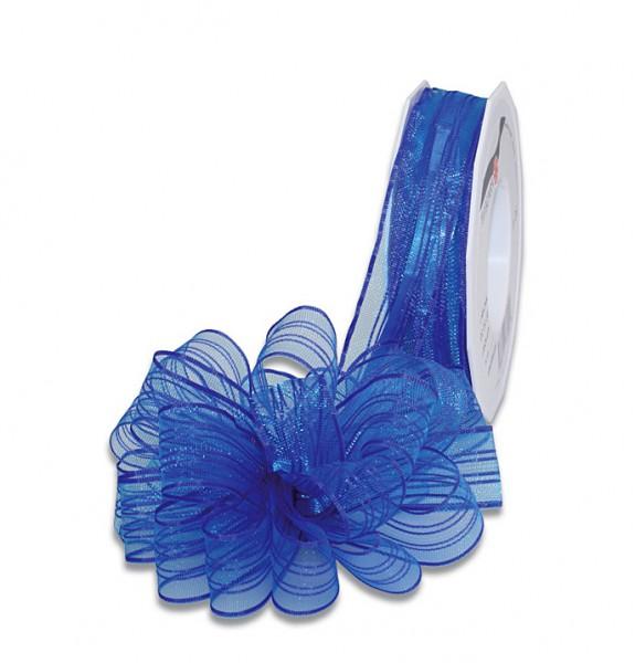 Ziehschleifenband VENEDIG: 25mm breit / 25m-Rolle, blau