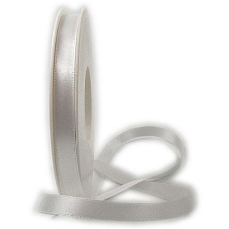 Satinband-SATINA, weiss: 10 mm / 50 Meter
