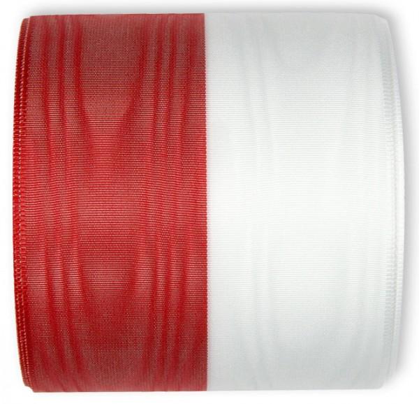 Nationalband-POLEN - Vereinsband Schützenband, rot-weiß, 150mm breit / 25m-Rolle