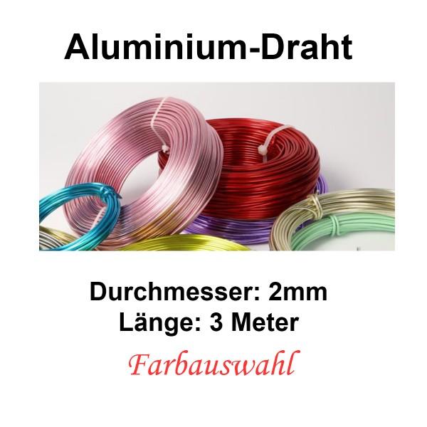 ALUMINIUM--Decolackdraht dia. 2mm Farbauswahl
