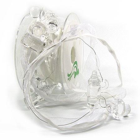 Prince & Princess Babyband: 25mm breit / 3m-Rolle, weiß-transparent.