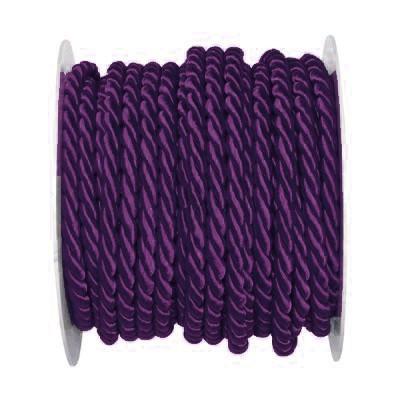 Kordel, einfarbig gedreht: 6mm breit Ø / 25m-Rolle