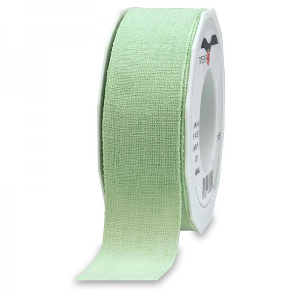 LEINEN, mintgrün, 40mm breit / 15m-Rolle