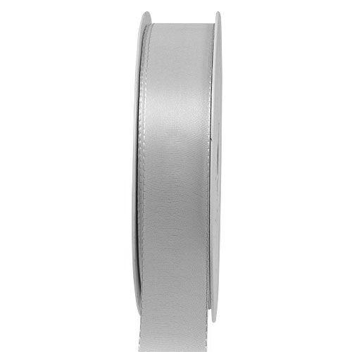 Taftband, grau: 25mm breit / 50m-Rolle, mit feiner Webkante.