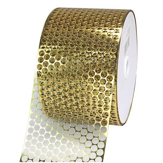 LOCHBAND-Chicago: 80mm breit / 45m-Rolle, gold-metallic