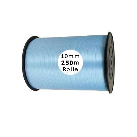 Ringelband: 10mm breit / 250m-Rolle, hellblau