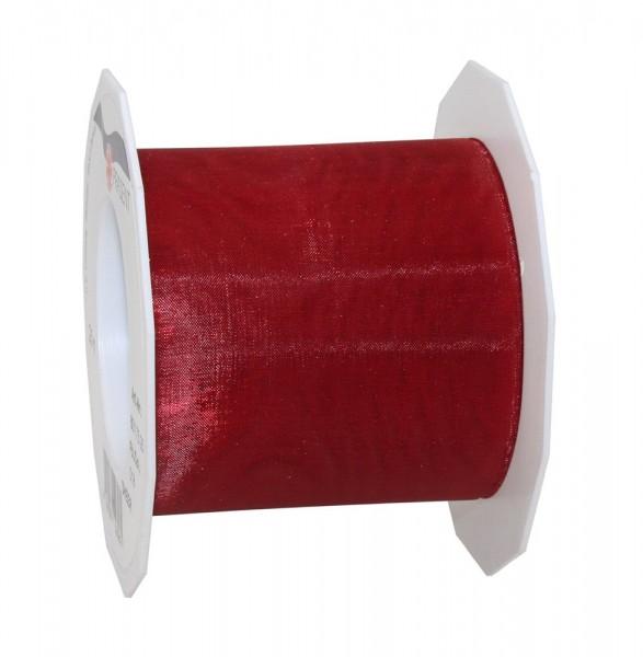 Organzaband-Sheer: 72mm breit / 25m-Rolle, weinrot