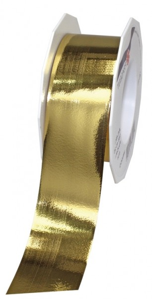 POLYBAND-Mexico: 40mm breit / 25m-Rolle, gold-metallic.