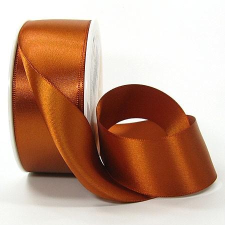 Satinband SINFINITY, mocca: 38mm breit / 25m-Rolle, mit feiner Webkante.