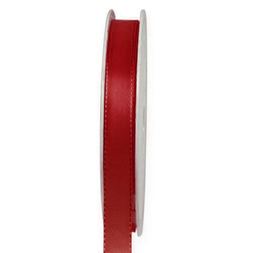 Taftband, weinrot: 10mm breit / 50-Rolle, mit feiner Webkante