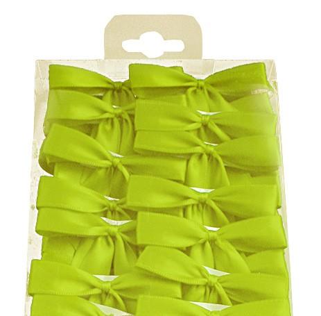Fertig-Schleifen 2-Flügel, lindgrün = 100 Stück-Box