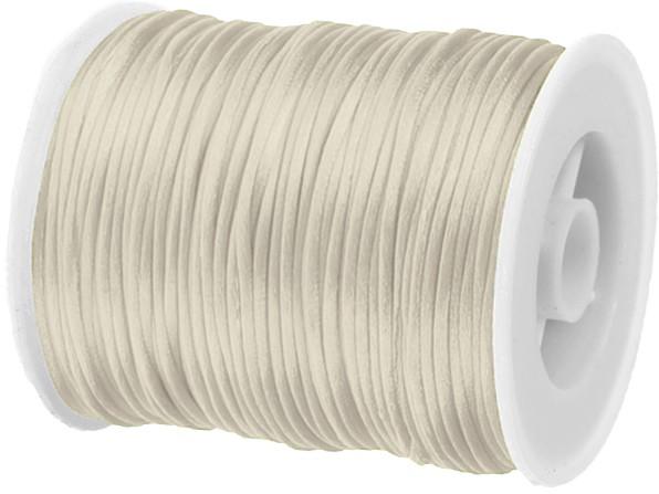 Satinkordel-Seidenkordel: 3mm Ø breit / 100m-Rolle, creme