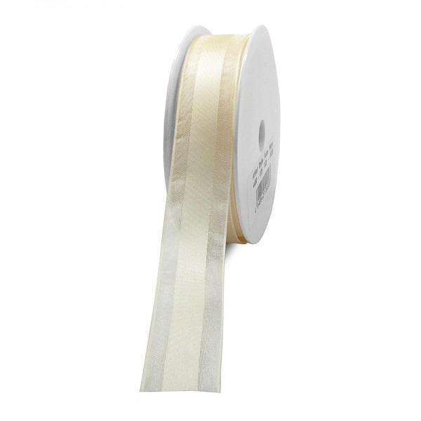Dekorband-CHARMING, creme: 25mm breit / 25m-Rolle