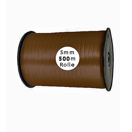 Ringelband: 5mm breit / 500m-Rolle, dunkelbraun