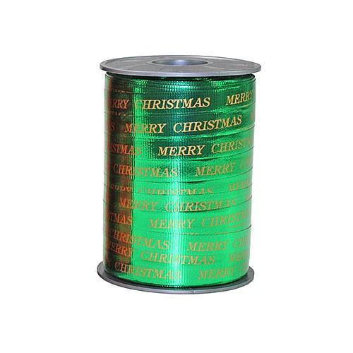 Ringelband: 10mm breit / 250m-Rolle, grün-metallic