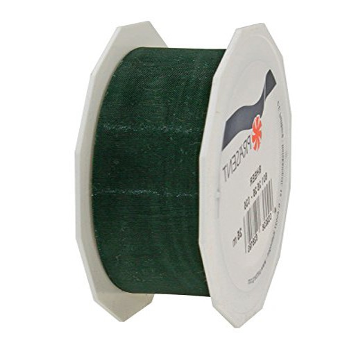 Organzaband-Sheer: 40mm breit / 25m-Rolle, tannengrün