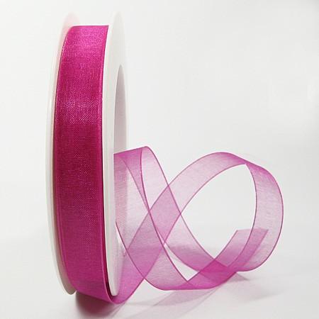 Organzaband pink: 15m breit / 25m-Rolle: 1250015121