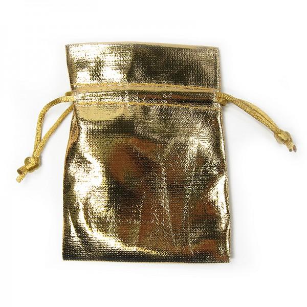 GOLD-Beutel: 7 cm x 10 cm, gold-metallic