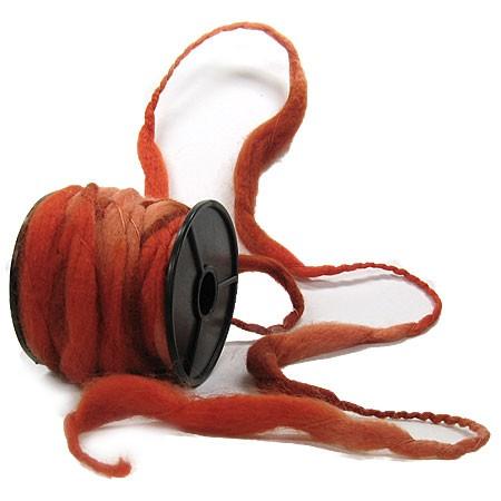 Filzkordel: Rot-Orange - 12mm Ø breit / 10m-Rolle