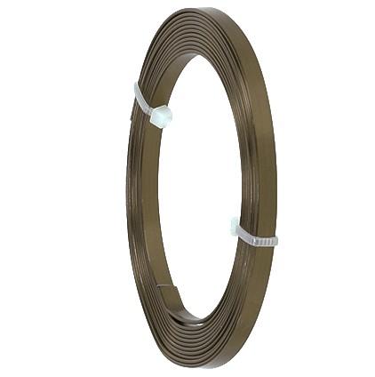 Aluminium-Flachdraht: ca. 5mm x 1mm - 10m-Ring: dunkelbraun (04)