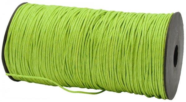 Gewachste Baumwollkordel, lindgrün: 1,5 mm Ø breit / 200 Meter