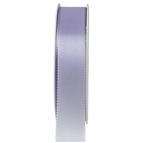 Taftband, flieder: 25mm breit / 50m-Rolle, mit feiner Webkante.