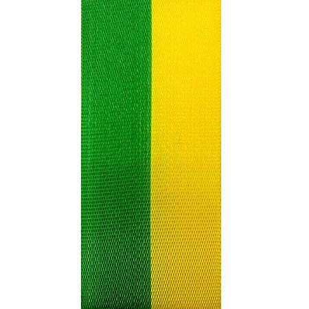 Vereinsband Schützenband, grün-gelb, 15mm breit / 25m-Rolle