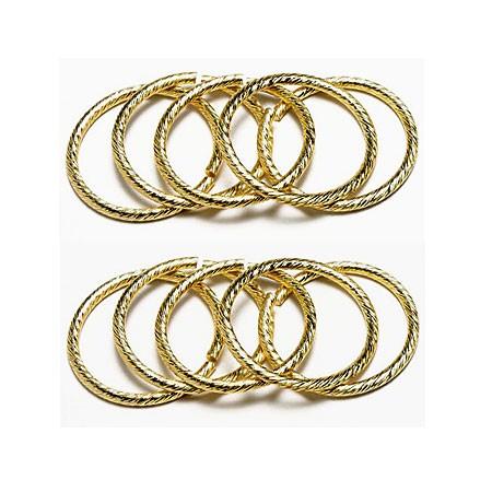 Deko-Hochzeitsringe, gold - 30mm Ø