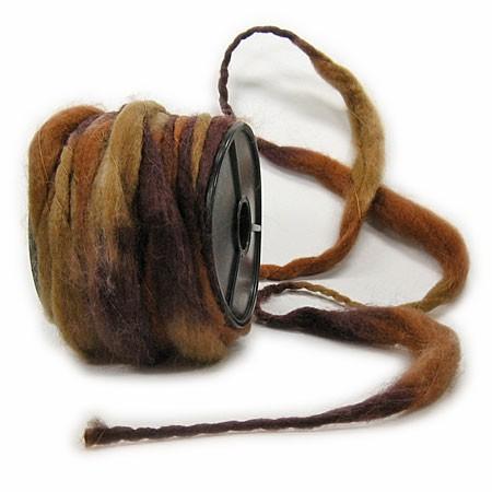 Filzkordel: braun-natur - 12mm Ø breit / 10m-Rolle