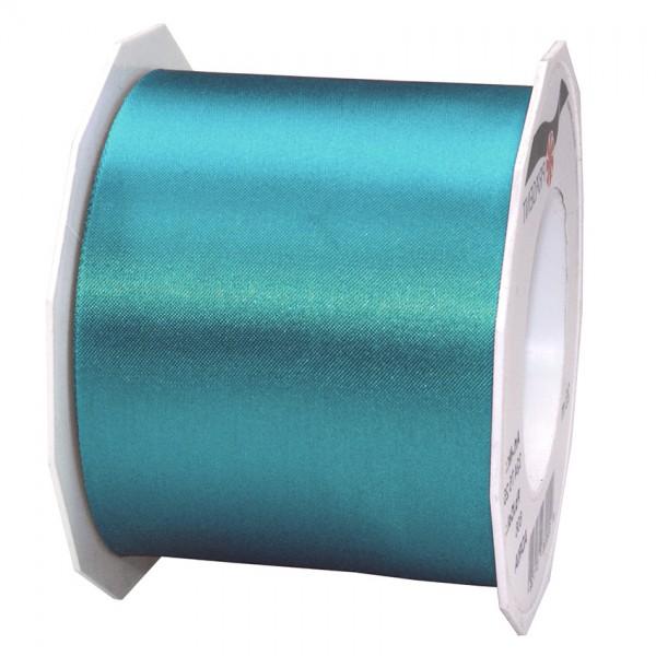 Satinband-ADRIA, Tischband: 72 mm breit / 25-Meter-Rolle, dunkeltürkis