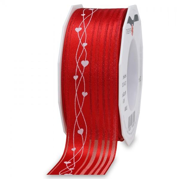 LIMA-Dekorband: 40mm breit / 20m-Rolle, rot