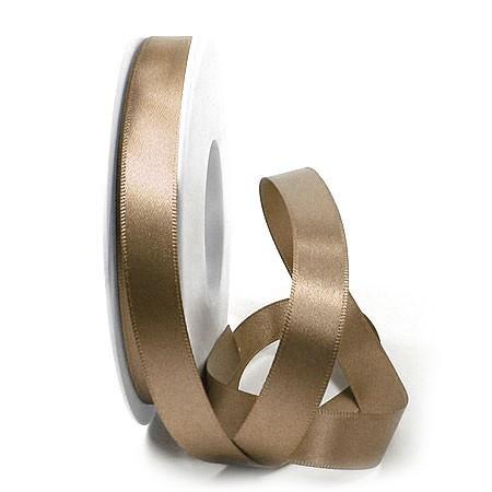 Satinband-SINFINITY, bronze: 15mm breit / 25m-Rolle, mit feiner Webkante