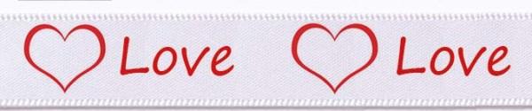 Love, weiss: 15mm breit / 25m-Rolle