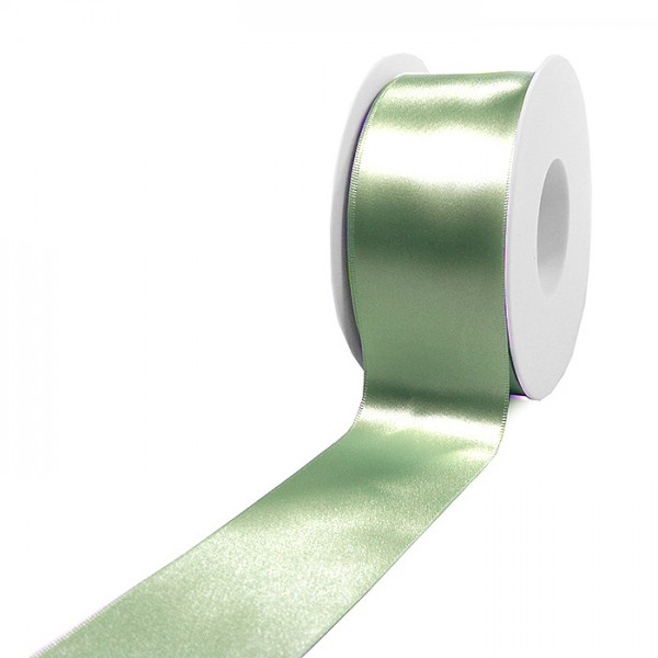 Satinband-SINFINITY, mintgrün: 50mm breit / 25m-Rolle, mit feiner Webkante