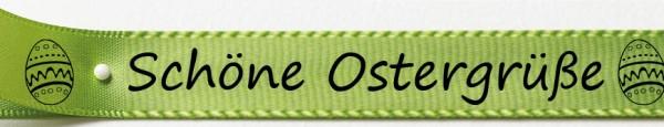 Schöne Ostergrüße lindgrün2: 15mm breit / 25m-Rolle