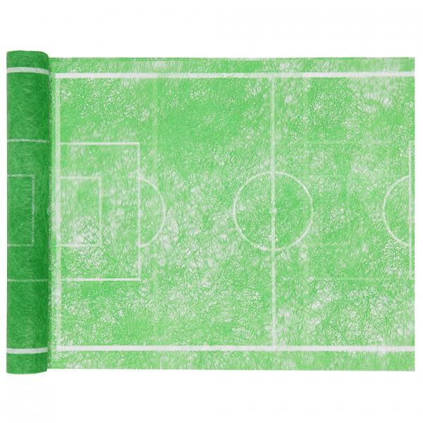 Tischläufer-FUßBALLFELD, grün: 300mm breit / 5m-Rolle.